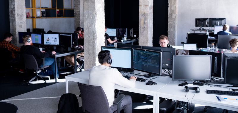 Developers are working in a software house